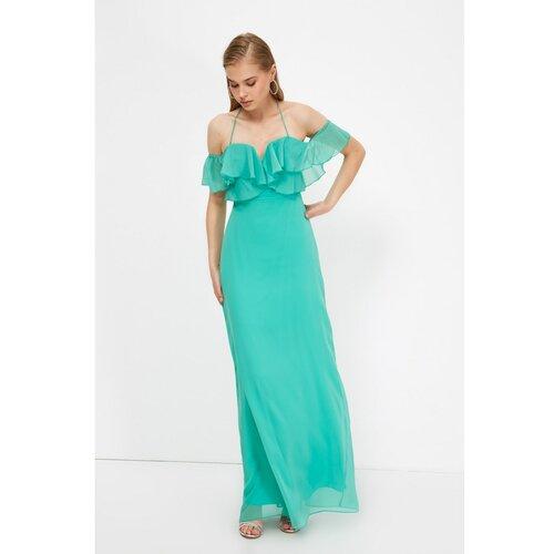 Trendyol Ženska haljina Večernja tirkizna zelena  Cene