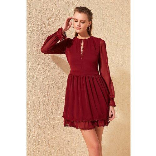 Trendyol Burgundska čipka detaljna haljina  Cene