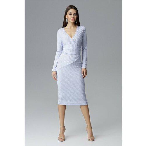 Figl Ženska haljina M637 Light bela   siva  Cene