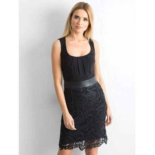 Fashionhunters Crna haljina sa čipkom  Cene