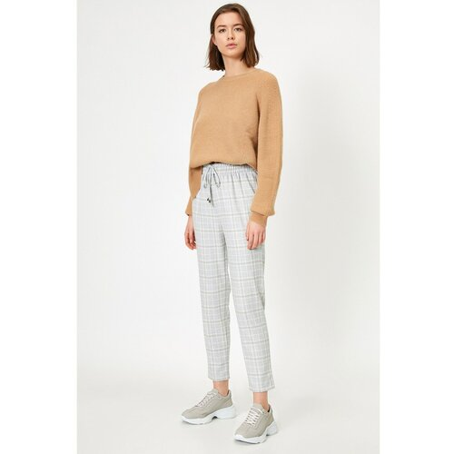 Koton Ženske sive četvrtaste hlače sive boje  Cene