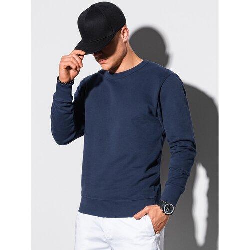 Ombre Odjeća Muška dukserica B1146 plava | bela  Cene