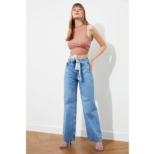 Trendyol Ženske traperice Nacy blue | siva  Cene
