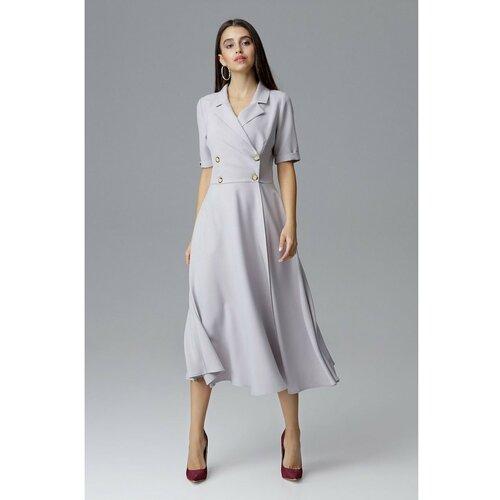Figl Ženska haljina M632 siva  Cene