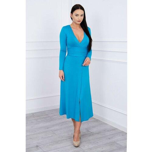 Kesi Ravna haljina V-izrez tirkizno svetloplava  Cene