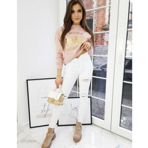 DStreet Ženske traper hlače NOVELIO bijele UY0714 bijele smeđa  Cene