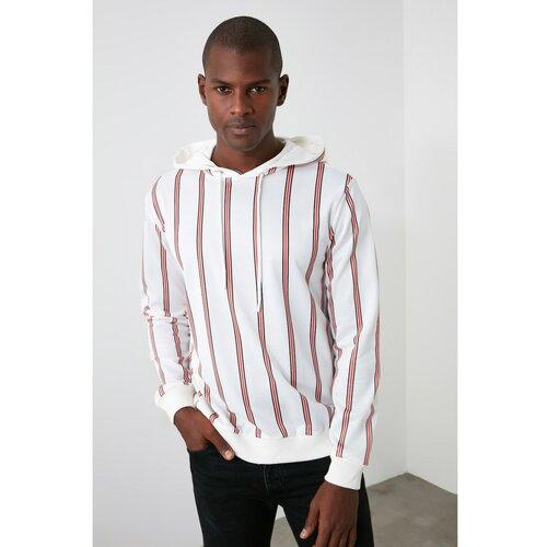 Trendyol Muška dukserica Striped crna | bela  Cene