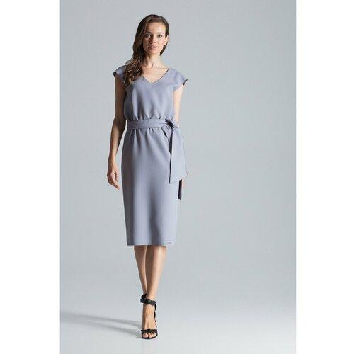 Figl Ženska haljina M674 siva   braon  Cene