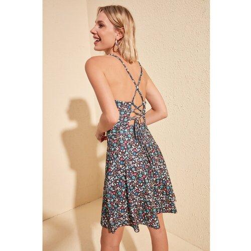 Trendyol Ženska siva haljina s cvjetnim uzorkom pink  Cene