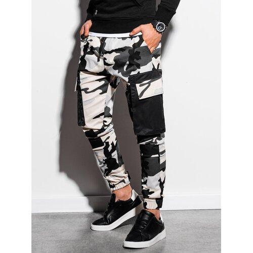 Ombre Muške pantalone P998 crne siva  Cene