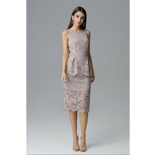 Figl Ženska haljina M640 siva | braon  Cene