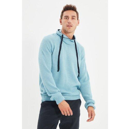 Trendyol Plavi novi muški pulover s ovratnikom  Cene