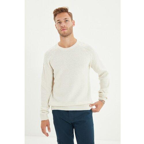 Trendyol Ecru muški tanki džemper s tankim krojem s ramenom i vratom preko ramena  Cene