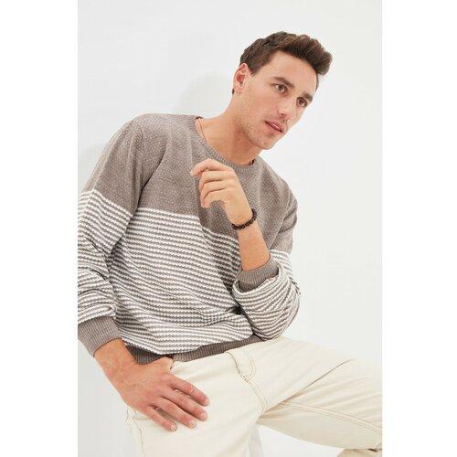 Trendyol Mink muški džemper s tankim fit grlom s vratom Slike