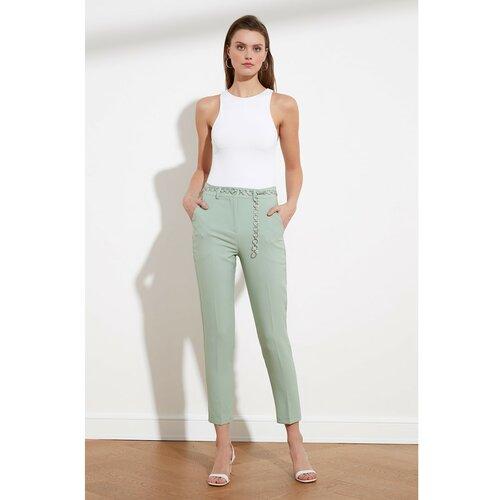 Trendyol Ženske pantalone Basic bijele krema  Cene