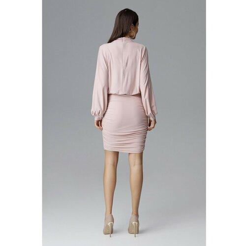 Figl Ženska haljina M635 siva | braon  Cene