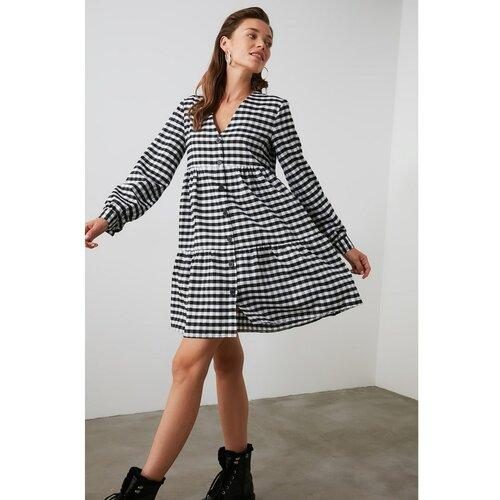 Trendyol Ženska haljina na kockice Crna siva  Cene