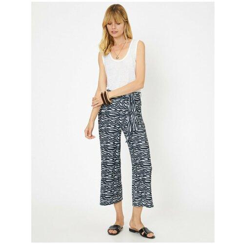 Koton Ženske hlače s uzorkom crne zebre sa uzorkom zebre  Cene