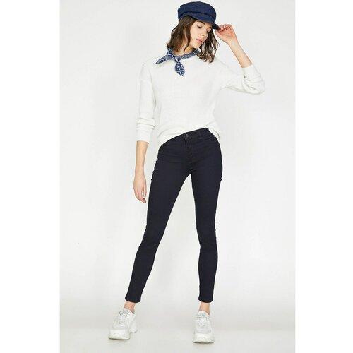 Koton Ženske plave ženske pantalone Kate Jean crne bijela  Cene