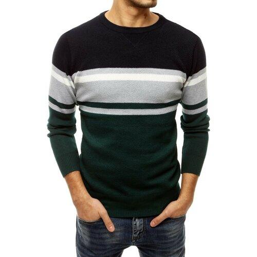 DStreet Zeleni muški džemper WX1669 crna   siva  Cene