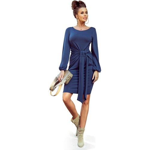 NUMOCO Ženska haljina 275-2 Mornarsko plava crna | plava Slike