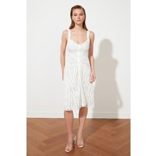 Trendyol Ecru čipkasta haljina s detaljima  Cene