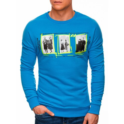 Edoti Muška dukserica B1342 plava | svijetlo plavo  Cene