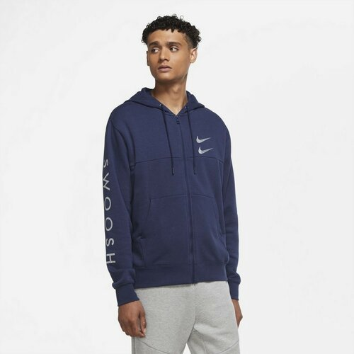 Nike muški duks SPORTSWEAR SWOOSH MEN''S FULL-Z plava DC2582  Cene