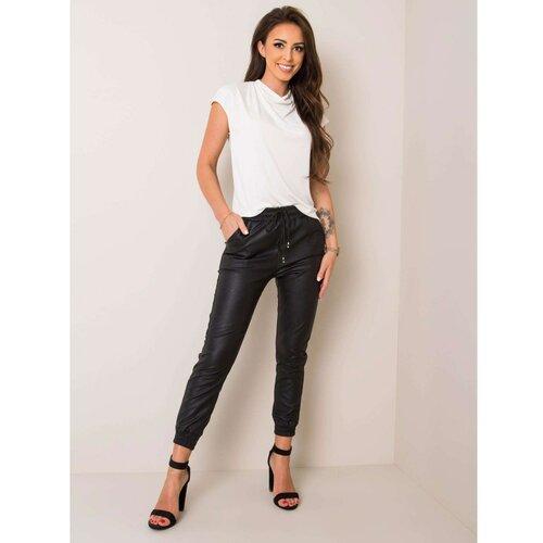 Fashionhunters Crne pantalone od umjetne kože  Cene