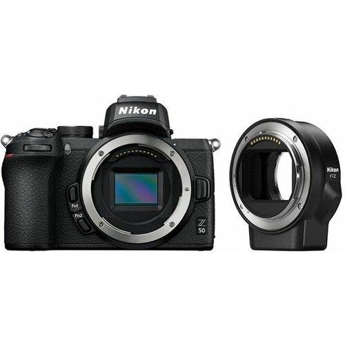 Nikon Z50 telo + FTZ adapter digitalni fotoaparat Slike