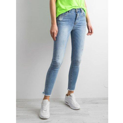 Fashionhunters Plave traper hlače slim fit  Cene
