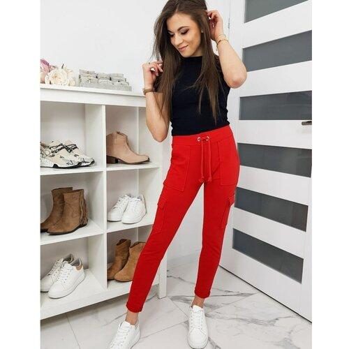 DStreet IVET ženske pantalone crvene UY0272 crne | siva | Crveno  Cene