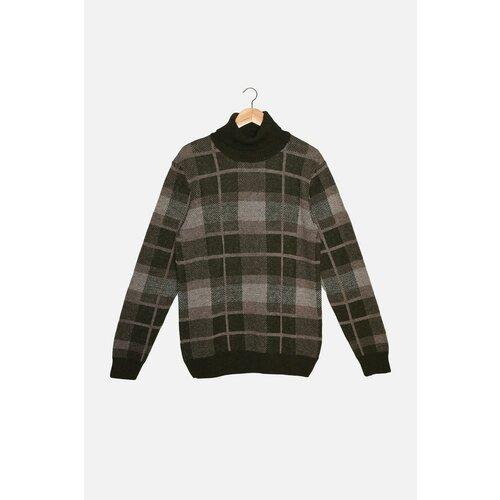 Trendyol Khaki muški pleteni pleteni džemper sa tankim rukavom i tankim rukavom  Cene