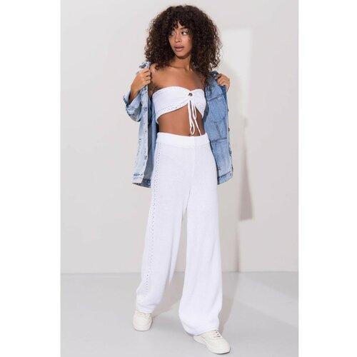 Fashionhunters BSL Bijele hlače Slike