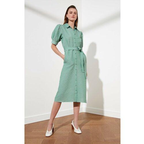 Trendyol Ženska siva haljina sa pojasom kaki  Cene