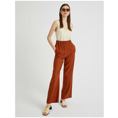 Koton Ženske smeđe široke hlače  Cene