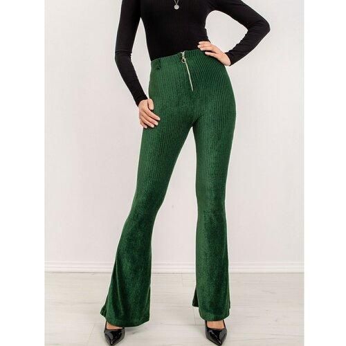 Fashionhunters BSL pantalone, tamnozelene  Cene