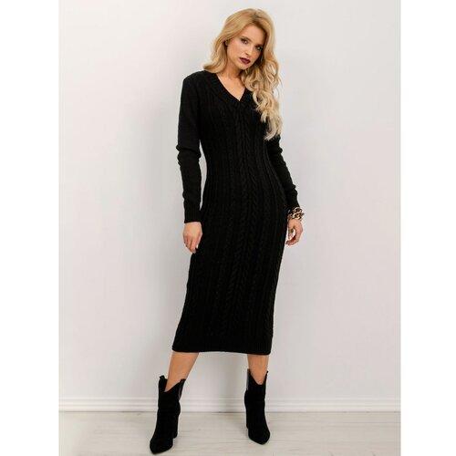 Fashionhunters Crna pletena BSL haljina  Cene