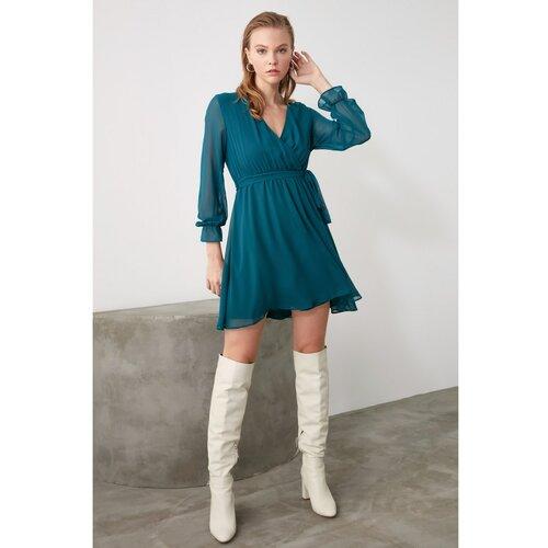 Trendyol Ženska haljina Pojas detaljno tirkizna  Cene
