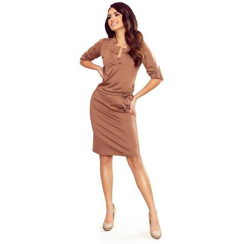 NUMOCO Ženska haljina 161 braon | narandžasta | tamnocrvena  Cene