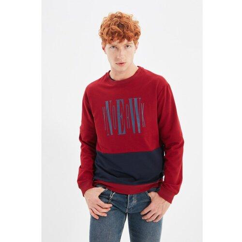 Trendyol Bordo crvena dukserica s regularnim krojem za muškarce  Cene