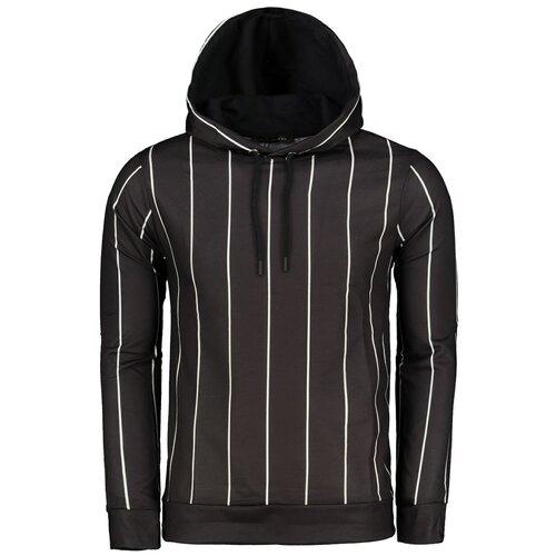Trendyol Muška dukserica Striped crna | braon  Cene