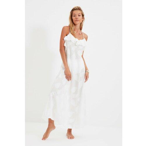 Trendyol Bijela hakard plava haljina od tkanja  Cene