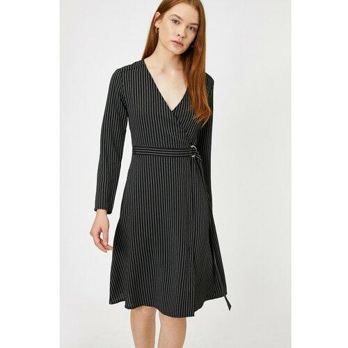 Koton Ženska crna haljina na pruge  Cene