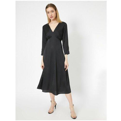 Koton Ženska crna haljina s V-izrezom siva  Cene