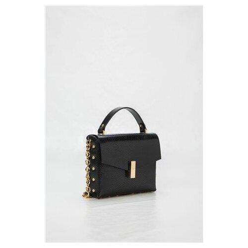 Mona ženska crna kožna tašnica s printom 3148006-1  Cene