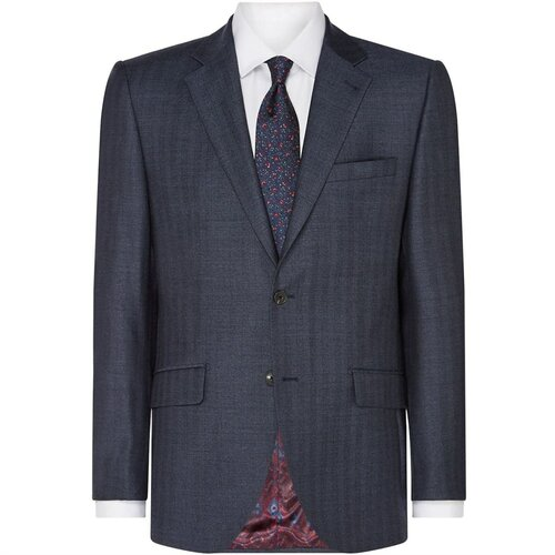 Turner and Sanderson Ashford krojeno odijelo od riblje kosti sa krojenom sivom jaknom  Cene