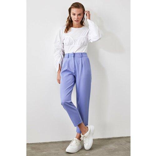 Trendyol Ženske hlače Pojas detaljno sive boje krema  Cene