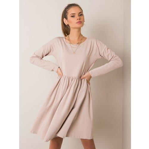 Fashionhunters RUE PARIS Bež melange haljina krem  Cene