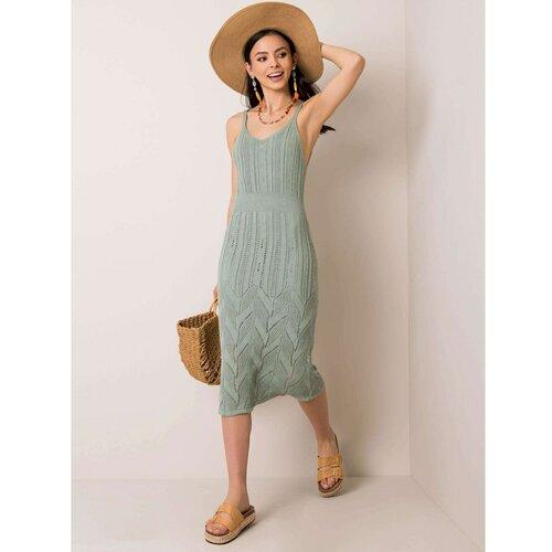 Fashionhunters RUE PARIS Mint pletena haljina  Cene